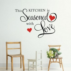 kitchendecal 300x300 This Kitchen Is Seasoned With Love Wall Quote Only $4.36 Shipped!