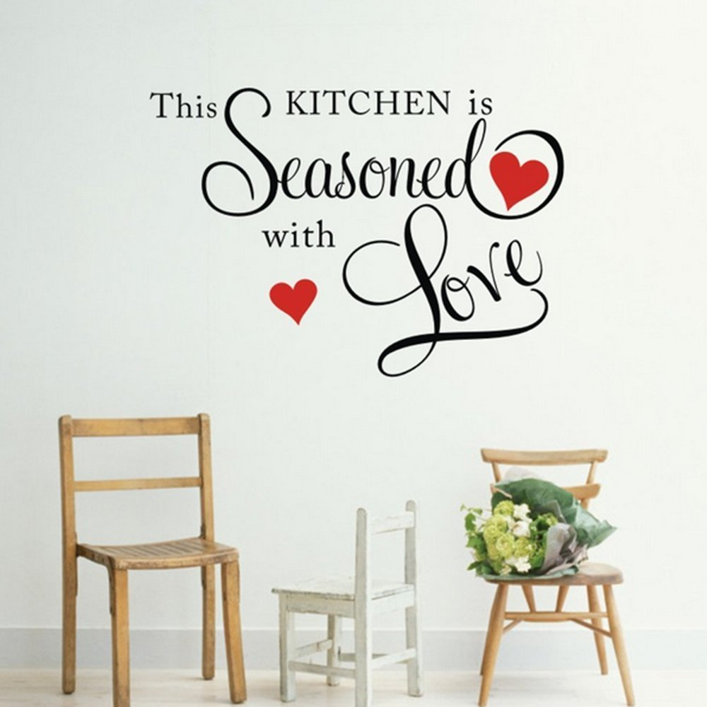 """Love Wall Quotes: """"This Kitchen Is Seasoned With Love"""" Wall Quote Only $4.36"""