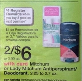 mitchum1 Free + $2 Money Maker on Mitchum Deodorant at Walgreens!