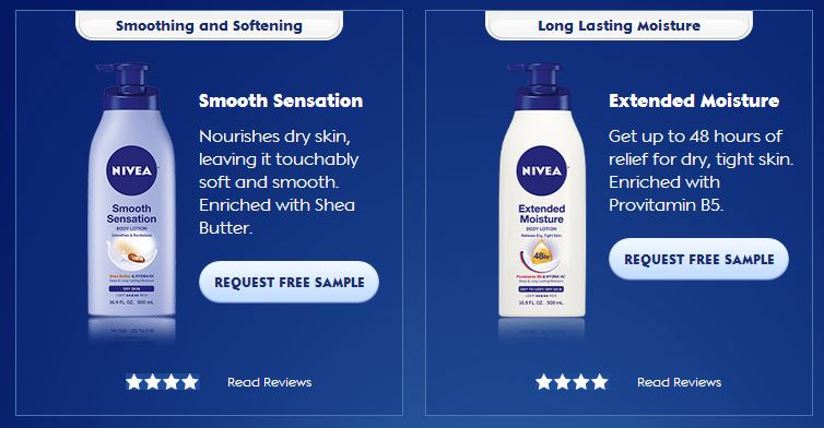 nivea sample FREE Nivea Lotion Sample!