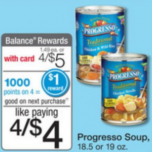 progresso soup at Walgreens FREE Progresso Soup at Walgreens  Today Only!
