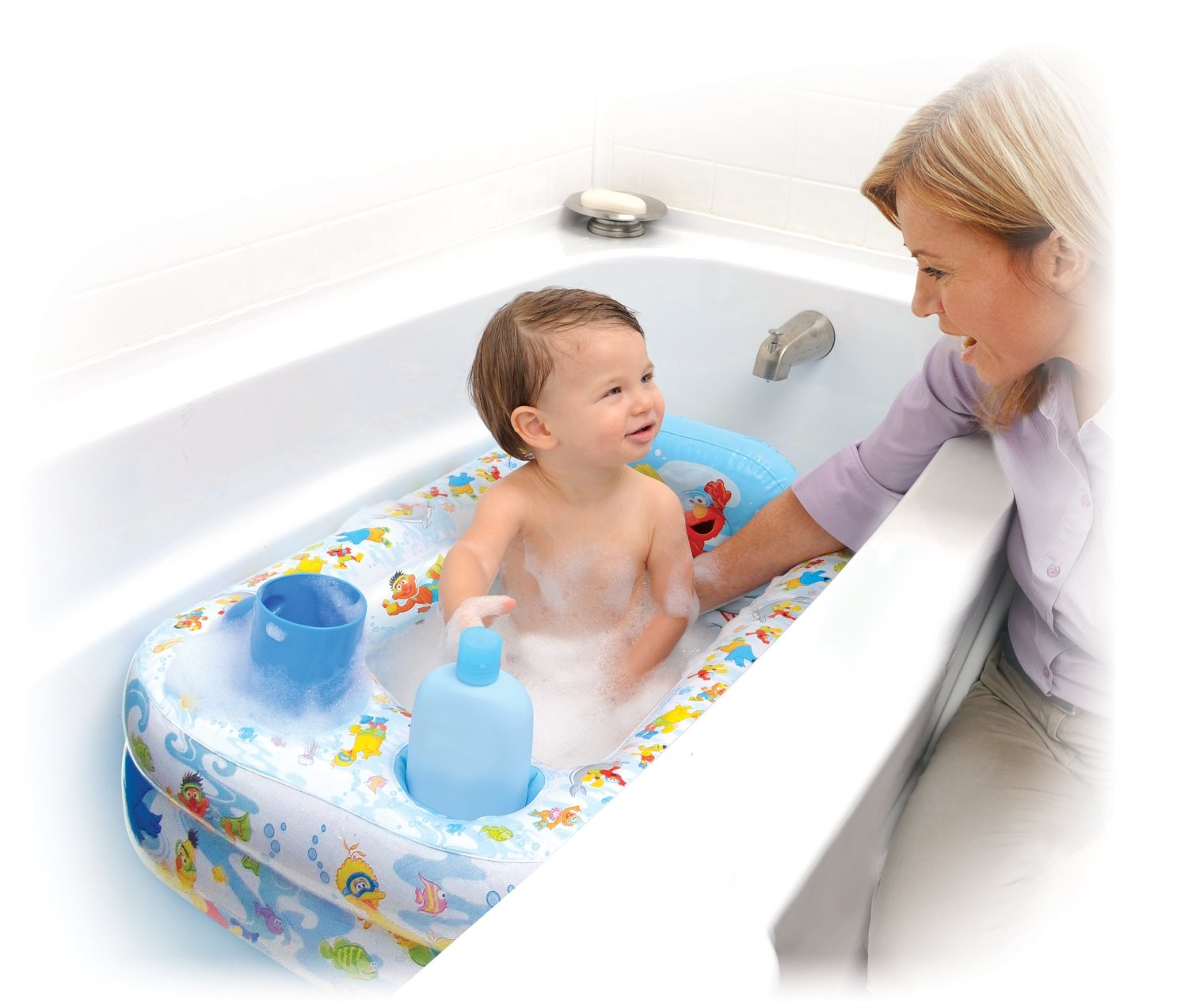 sesame street inflatable bathtub only shipped. Black Bedroom Furniture Sets. Home Design Ideas
