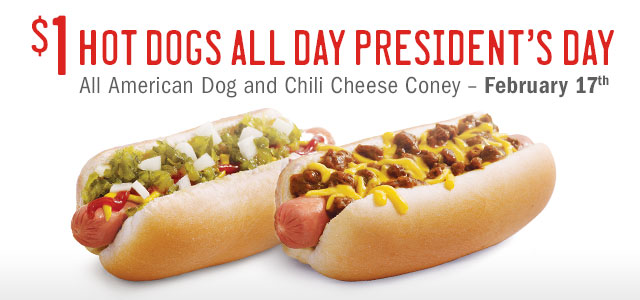 Sonic: $1 Hot Dogs All Day on Feb. 17th, Restaurant Deals, Hot Deals, Holiday Deals