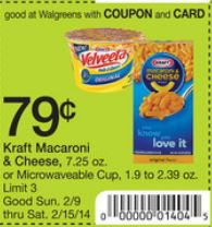 wags vel new Velveeta Shells & Cheese Cups Only $.04 at Walgreens!