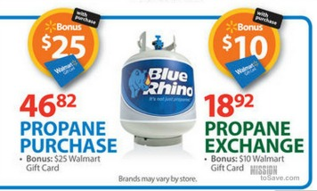 Blue Rhino Walmart deal Walmart: Propane Exchange Deal Just $2.92!