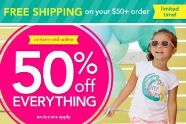 Carters 50 off sale March 17 Carters: 50% off EVERYTHING Sale!!!