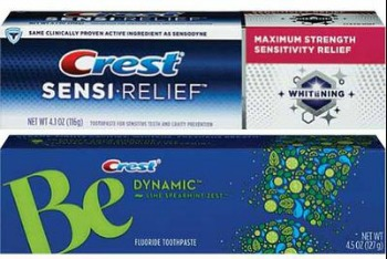 Crest Sensi Relief and Be toothpast FREE Crest Be or Sensi Relief Toothpaste at CVS!