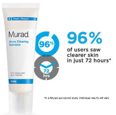 Murad Acne Cleaning Solution FREE Sample of Murad Acne Clearing Solution!