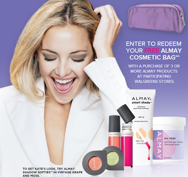 almay FREE Almay Cosmetics + FREE Cosmetics Bag at Walgreens!