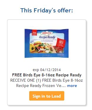 birds eye kroger Free Birds Eye Recipe Ready Frozen Vegetable at Kroger!