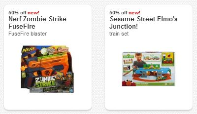 cartwheel toys 50% off Nerf Zombie Strike & Elmos Junction Cartwheel Offers!