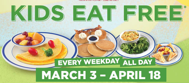 kidseatfree Bob Evans: Kids Eat FREE Every Weekday Through 4/18!