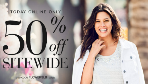 lane bryant Lane Bryant: 50% Off Sitewide! (today only)