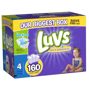 luvs 160 300x300 Amazon: Get 50% off Diaper Purchase! (Luvs 160ct for only $12.70!)