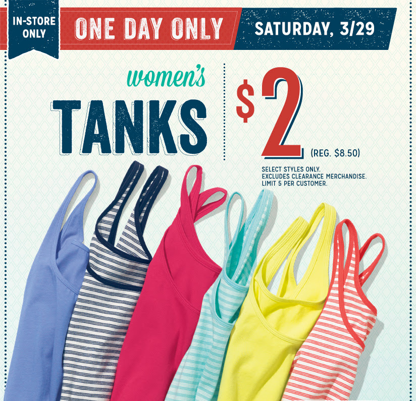 old navy tank HOT! Old Navy: $2 Tank Top Sale! (Reg. $8.50)