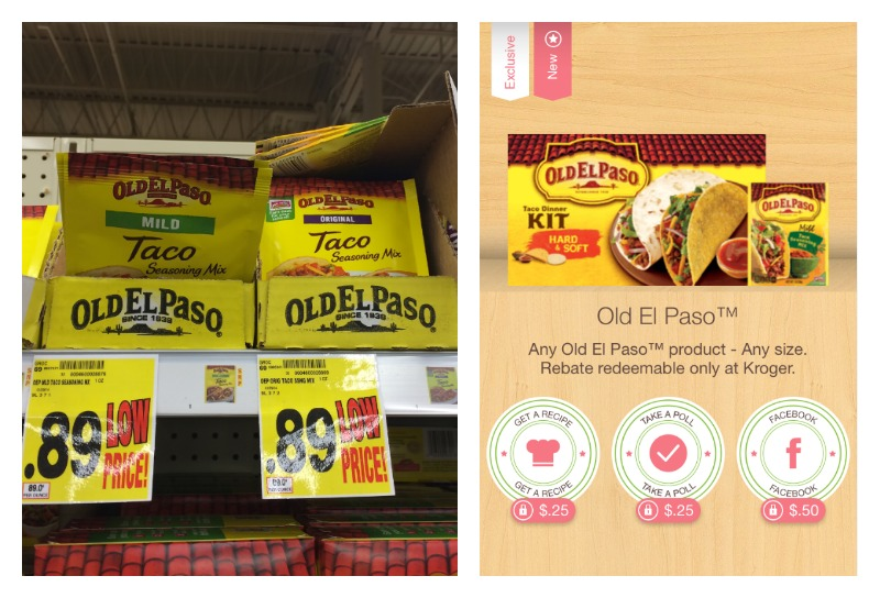 oldelpaso FREE Old El Paso Seasoning Packets at Kroger!