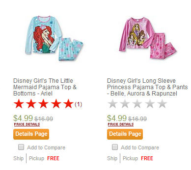 pajamas Kmart: Up to 90% off Clearance + FREE Store Pick up!