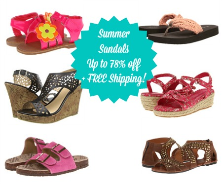 sandals 6pm: Sandals up to 78% Off + FREE Shipping! (Over 1,100 Styles Under $30!)