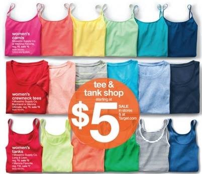 tee Womens Tank Tops Only $3.15 Each at Target! Ends Tomorrow!