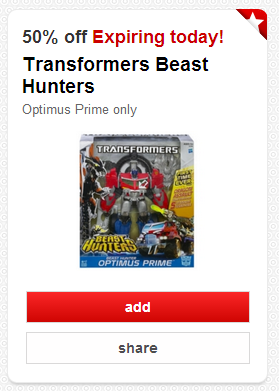 transformers Target Cartwheel: Save 50% On Transformers Beast Hunters Today Only + Deal Scenario!