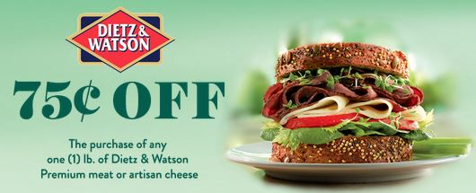 Dietz Watson Dietz & Watson Deli Meat or Artisan Cheese 75¢ off Coupon