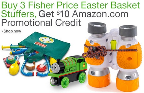 Fisher Price Easter Basket Stuffers FREE $10 Amazon Credit When You Buy Fisher Price Easter Basket Fillers!