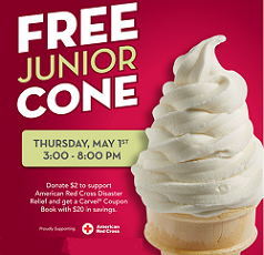 Junior Cone at Carvel Ice Cream FREE Junior Cone at Carvel Ice Cream!