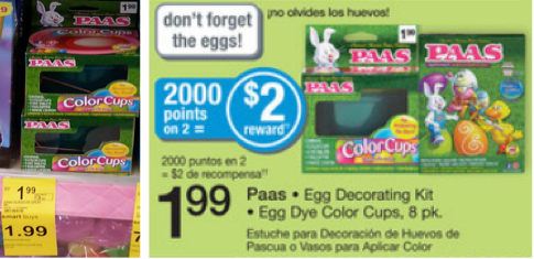 PAAS Paas Easter Egg Dye Kits or Egg Dye Color Cups Only $.99 at Walgreens  Last Day!
