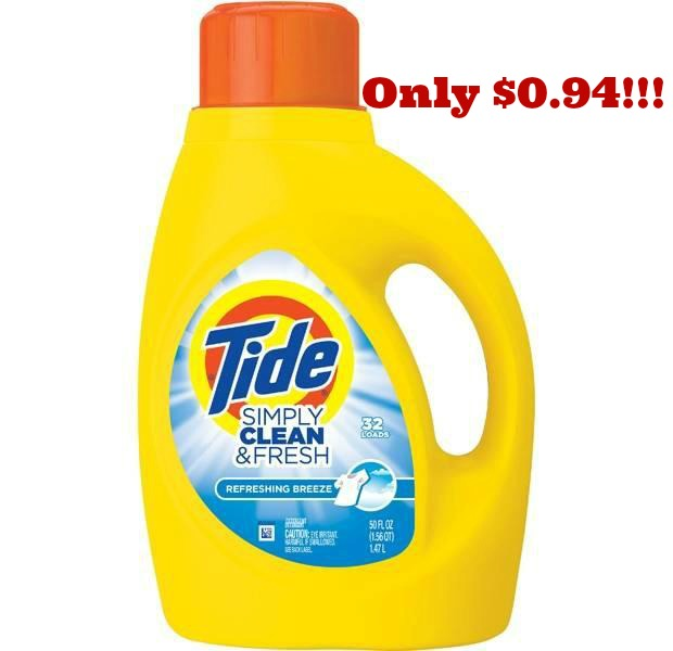 Tide Simply Clean Fresh *HOT* Tide Detergent Only $0.94 at CVS!