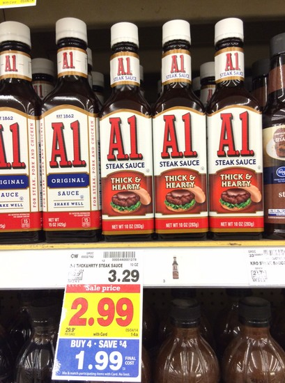 a1 A1 Steak Sauce Only $0.89 at Kroger!