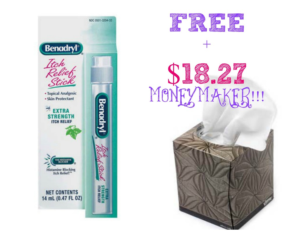 benadryl1 1024x797 FREE + $18.27 Moneymaker on Benadryl & Kleenex at Walmart and Target!