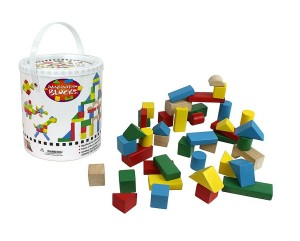 block set 300x241 42 Piece Wood Building Block Set with Carrying Container Only $9.95 Shipped!