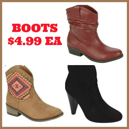 boot collage Kmart Boot Clearance starting at just $4.99!