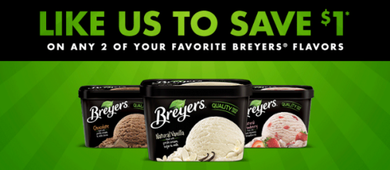 breyers facebook coupon $1 off 2 Breyers Ice Cream Coupon