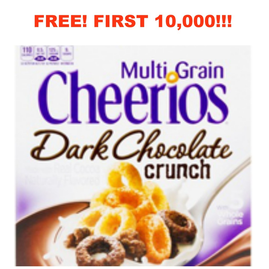 cheerios2 1024x1024 FREE Multi Grain Cheerios Dark Chocolate Crunch! First 10,000!