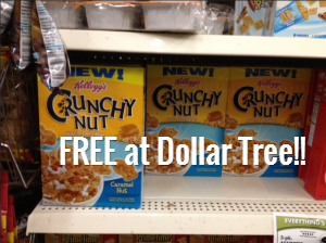 crunchy nut HOT! 3 Free Kellogg's Crunchy Nut Cereals at Dollar Tree!