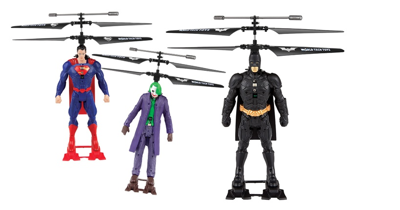 dc copter DC Comics Batman, Joker, or Superman 2 Channel Remote Controlled Helicopter Only $24.99! (reg. $79.99)