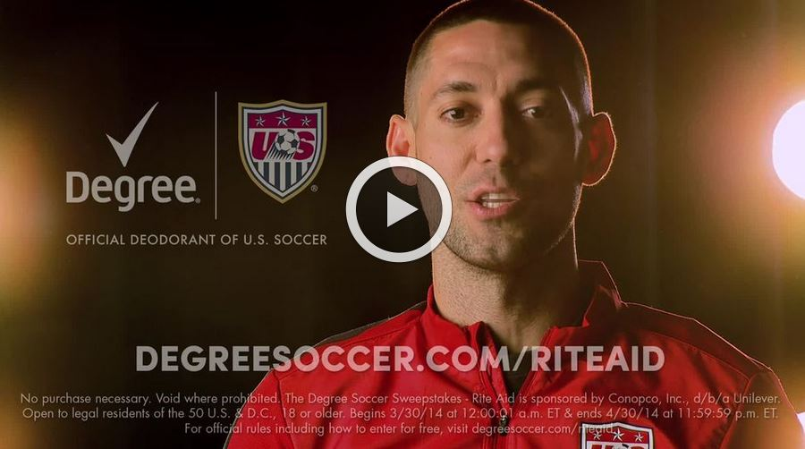 degree rite aid Win a Trip of a Lifetime from Rite Aid and Degree to root for the Men's National Team in Brazil this summer!