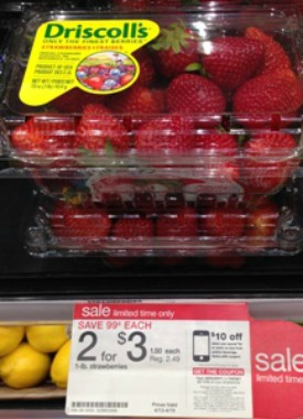 driscoll strawberries at Target FREE Pound of Driscolls Strawberries at Target