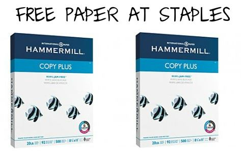 free paper at staples FREE Copy Paper at Staples  Last Day!