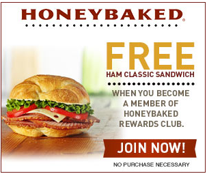 free ham FREE Ham Classic Sandwich from Honey Baked Ham!