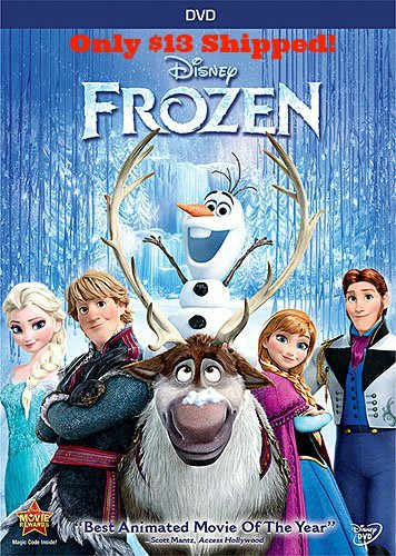 frozen *HOT* Disney Frozen DVD Only $13 Shipped (reg. $29.99)