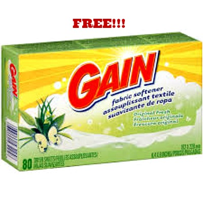 gain1 FREE Gain Dryer Sheets at Dollar Tree!