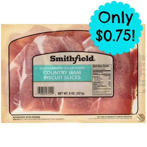 ham1 *HOT* 8oz. Package of Smithfield Ham Slices Only $0.75 (Reg. $3.49) at Publix!