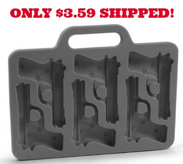 handgun ice tray Gun Shaped Ice Tray Only $3.59 Shipped!
