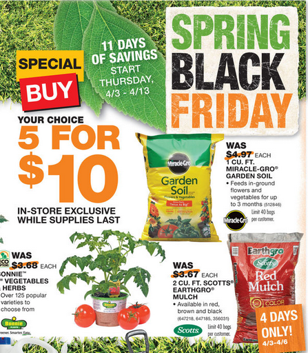 Home Depot Mulch Sale May