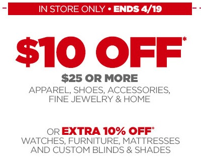 jcp JCPenney $10 Off a $25 Purchase Coupon!