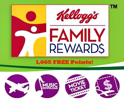 kelloggs family rewards *HOT* 1,665 Kelloggs Family Rewards Points!