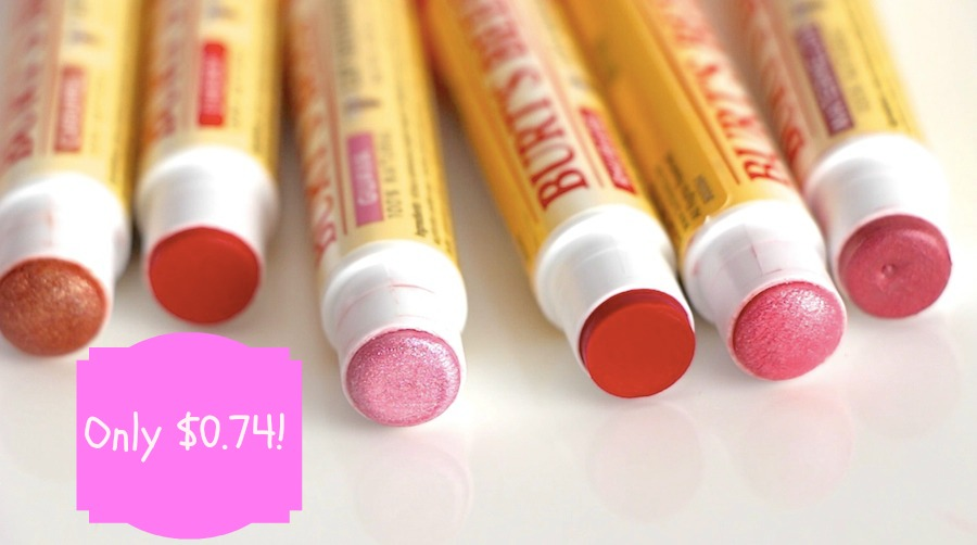 lip shimmer Burt's Bees Tinted Lip Shimmer Only $0.74 at Target (Reg. $3.49)!