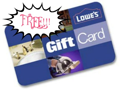lowes HOT! FREE $5 Lowes Gift Card + FREE Shipping!!